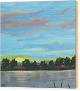 Evening On Ema River Wood Print