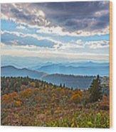 Evening On The Blue Ridge Parkway Wood Print