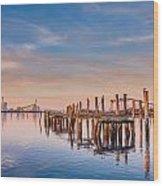 Evening On The Humboldt Bay Wood Print