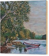Evening On The Lake Wood Print