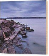 Evening On Tuttle Creek Lake In Kansas Wood Print