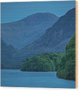 Evening Over Derwentwater Wood Print