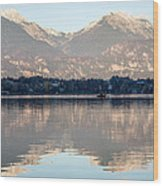 Evening Over Lake Bled Wood Print