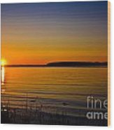 Evening Peace Wood Print