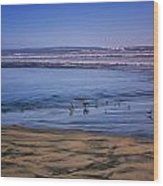 Evening Peace On Coronado Beach Wood Print