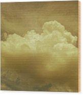 Evening Rain Cloud Wood Print