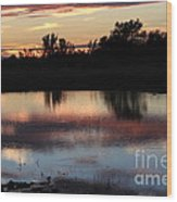 Evening Reflection Wood Print