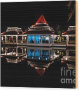 Evening Reflections Wood Print