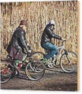 Evening Ride Wood Print by Richie Stewart