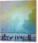 Evening Romance - Venice Wood Print