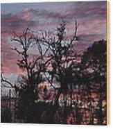 Evening Sky Color Wood Print by Ella Char