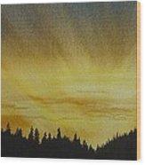 Evening Splendour Wood Print