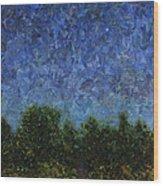 Evening Star - Square Wood Print