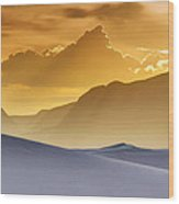 Evening Stillness - White Sands Sunset Wood Print