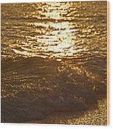 Evening Sun Hive Beach Four Wood Print