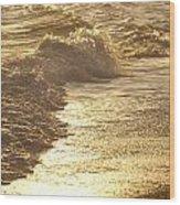 Evening Sun Hive Beach Two Wood Print