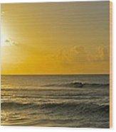 Evening Surf Wood Print