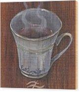 Evening Tea Wood Print