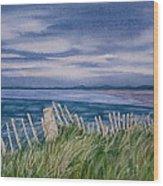 Evening Tide Wood Print