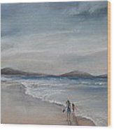 Evening Tide Wood Print by Rachael Curry