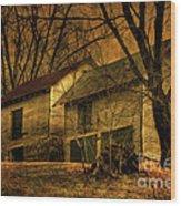Evening Twilight Fades Away Wood Print