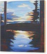 Evening View Wood Print