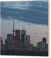 Eventide - Slow Dusk In Toronto Wood Print