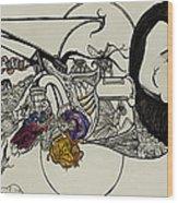 Ever Lasting Youth Aka The Organ Eater Wood Print by Nickolas Kossup