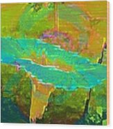 Ever Turquoise Wood Print by Shirley Sirois