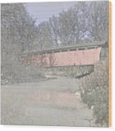 Everett Covered Bridge Wood Print by Jack R Perry