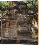 Evergreen Plantation Slave Quarters Wood Print