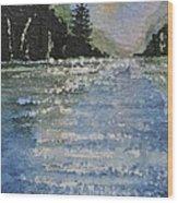 Evergreen Shore Wood Print