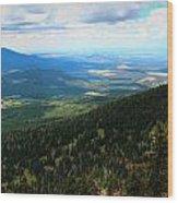 Evergreen Slopes Wood Print