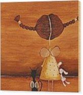 Every Angel Needs A Bunny Wood Print