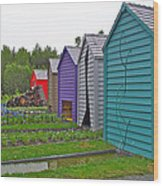 Every Garden Needs A Shed And Lawn Two In Les Jardins De Metis/reford Gardens Near Grand Metis-qc Wood Print