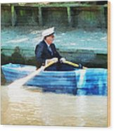 Everyone Is The Captain Of Their Own Boat Wood Print