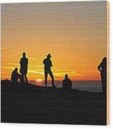 Everyone Loves A Sunset Panorama Wood Print