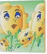 Everyone Loves Roses 2 Wood Print