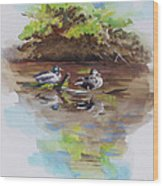 Everythings Just Ducky Wood Print by Suzanne Schaefer