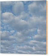 Everywhere - Clouds Wood Print by Margaret McDermott