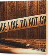 Evidence Wood Print by Olivier Le Queinec