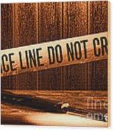Evidence Wood Print