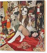 Evil Schoolgirl 166 Wood Print