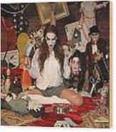 Evil Schoolgirl 2 Wood Print