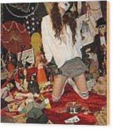 Evil Schoolgirl 207 Wood Print