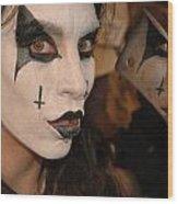 Evil Schoolgirl 266 Wood Print