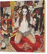 Evil Schoolgirl 38 Wood Print