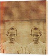 Evil Twins Wood Print