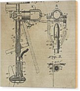 Evinrude Outboard Marine Engine Patent  1910 Wood Print