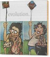 Evolution The Poster Wood Print